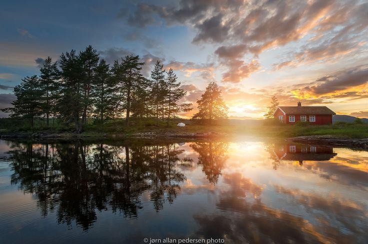Summer mood by the red cabin by Jørn Allan Pedersen on 500px