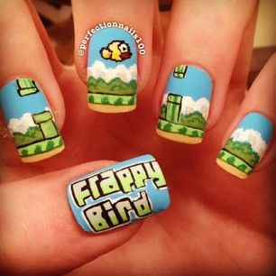 Before there was Flappy Bird… | 26 Incredibly Creative Works Of Nail Art