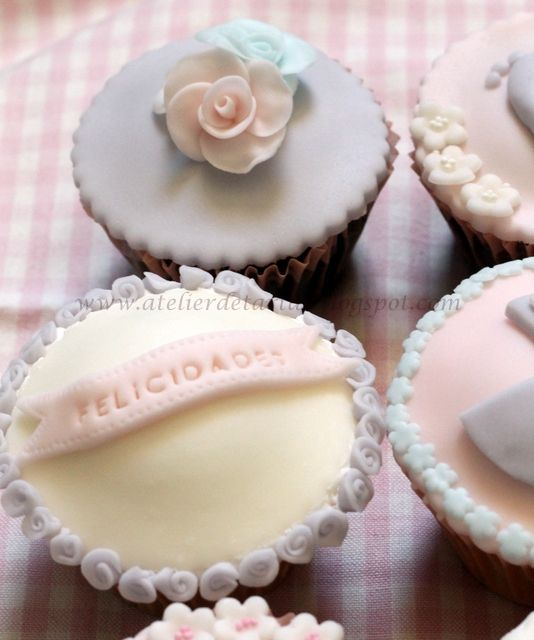 Bautizo Cupcakes  Cumpleaños Cupcakes