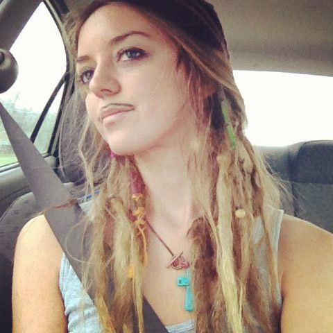 My #dreadlocks and #mustache  #dreads #girl #blonde #beads #woman #women #dread #dreadlock #style # hair #fashion #natural