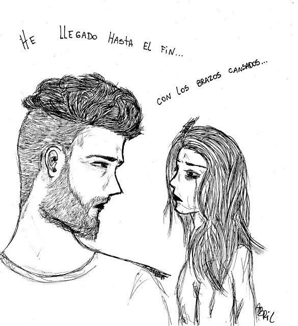 Otoño Abriliano comic arte art viñeta historieta drawing couple sad dibujo Cerati