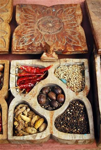 Indian spice box - perfect for the foodie in your life (Cochin, India)  - 8x12 Canvas Print from OrderFromChaosPhoto on Etsy