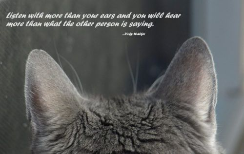 Listen with your ears...