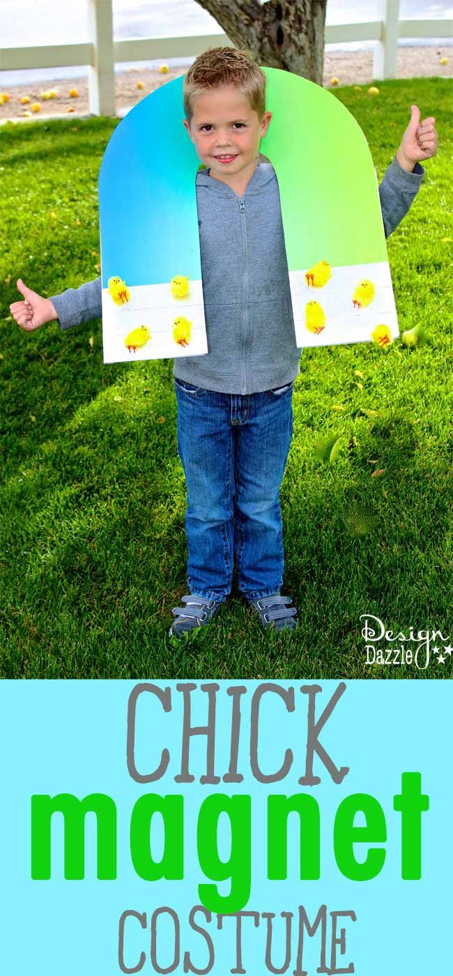DIY Chick Magnet Costume - such a quick & easy and DARLING costume idea for a little boy!