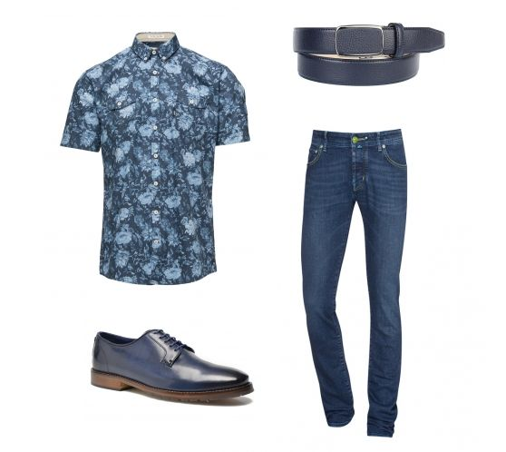 Casual-Outfit für IHN in Blau - Erstellt mit collageAd!