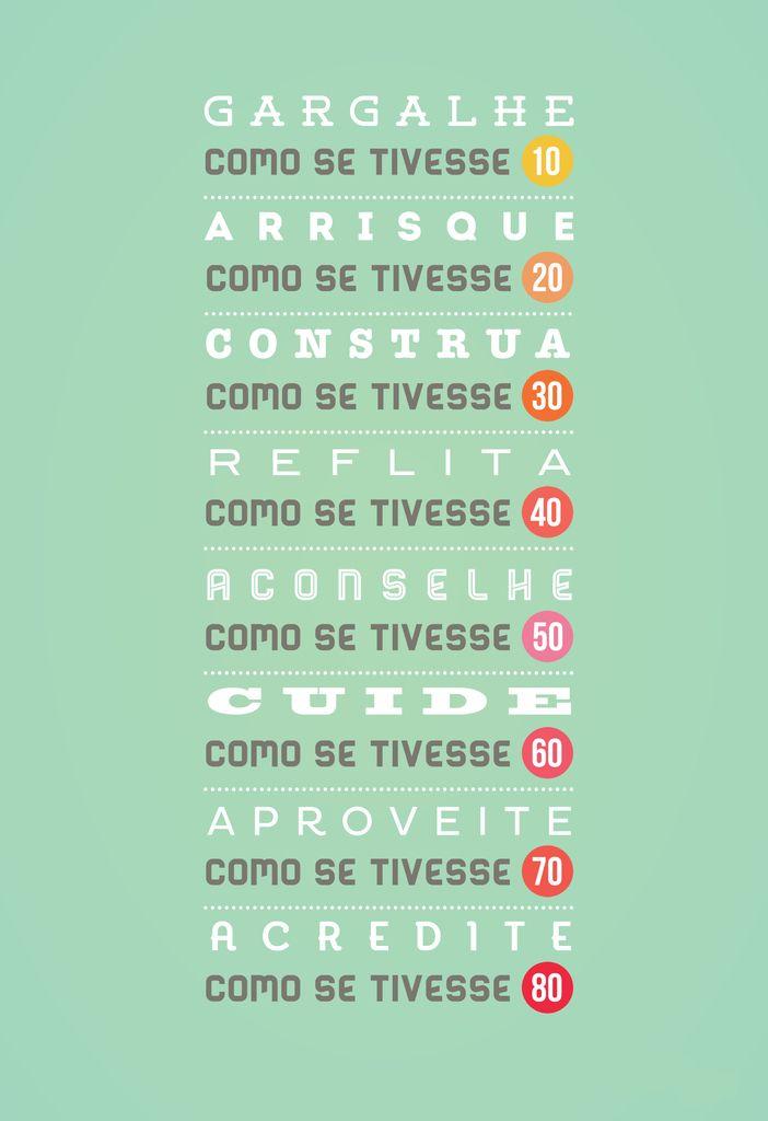 Poster Frase Gargalhe como se tivesse 10 - Decor10