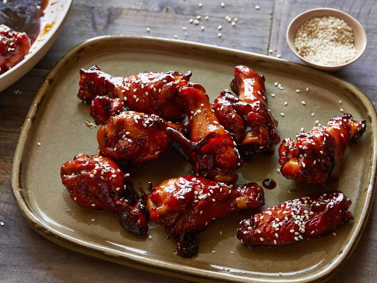 Sticky Honey-Soy Chicken Wings Recipe : Tyler Florence : Food Network