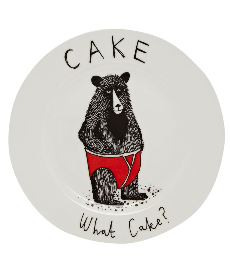 Cake What Cake Side Plate, Jimbob Art. Shop the latest plates from the Jimbob Art collection online at Liberty.co.uk