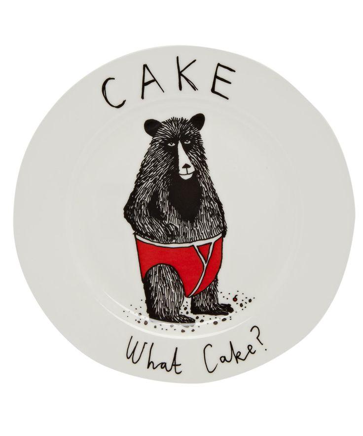 Cake What Cake Side Plate, Jimbob Art #LibertyHome