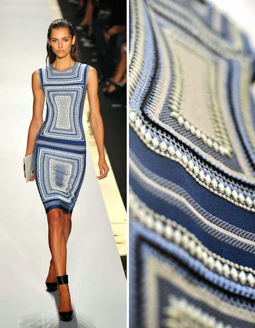 Herve Leger by Max Azria 2014, not actually Crochet, it's embellished fabric, but could so easily be crochet