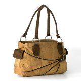 Cork bags are awesome. Cork from the Cork Oak is a renewable material which is very eco-friendly.