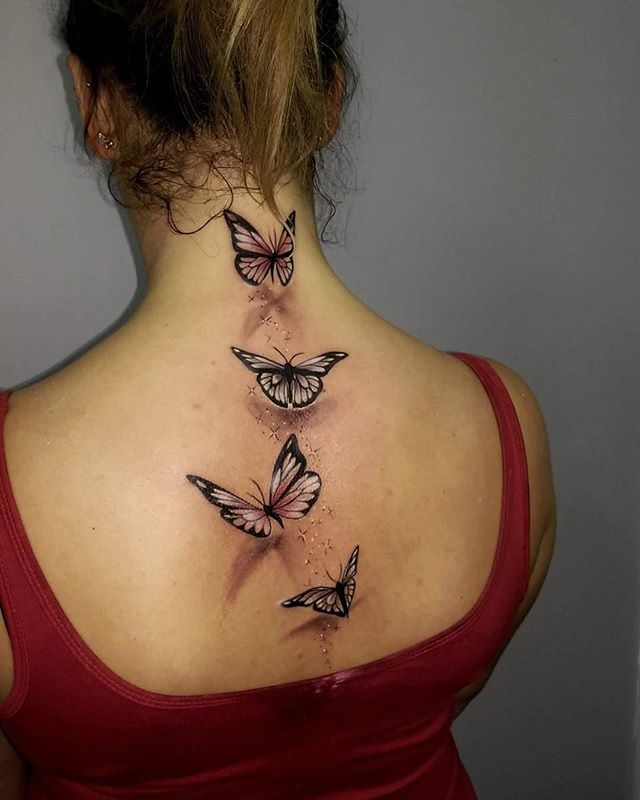 #tattoo # tattoos #butterflytattoo #ink #backtattoo #3dtattoo @eikondevice