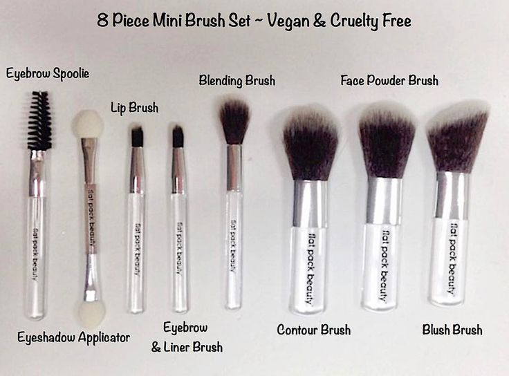 """2 Likes, 1 Comments - Flat Pack Beauty✈️🚆🚕🚢🌏💄💋🇺🇸 (@flatpackbeauty) on Instagram: """"Our cruelty-free, soft & fluffy,  vegan 8 piece mini brush set is only 3"""" long for micro compact…"""""""