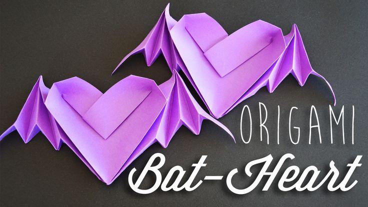 Learn how to make an origami bat-heart