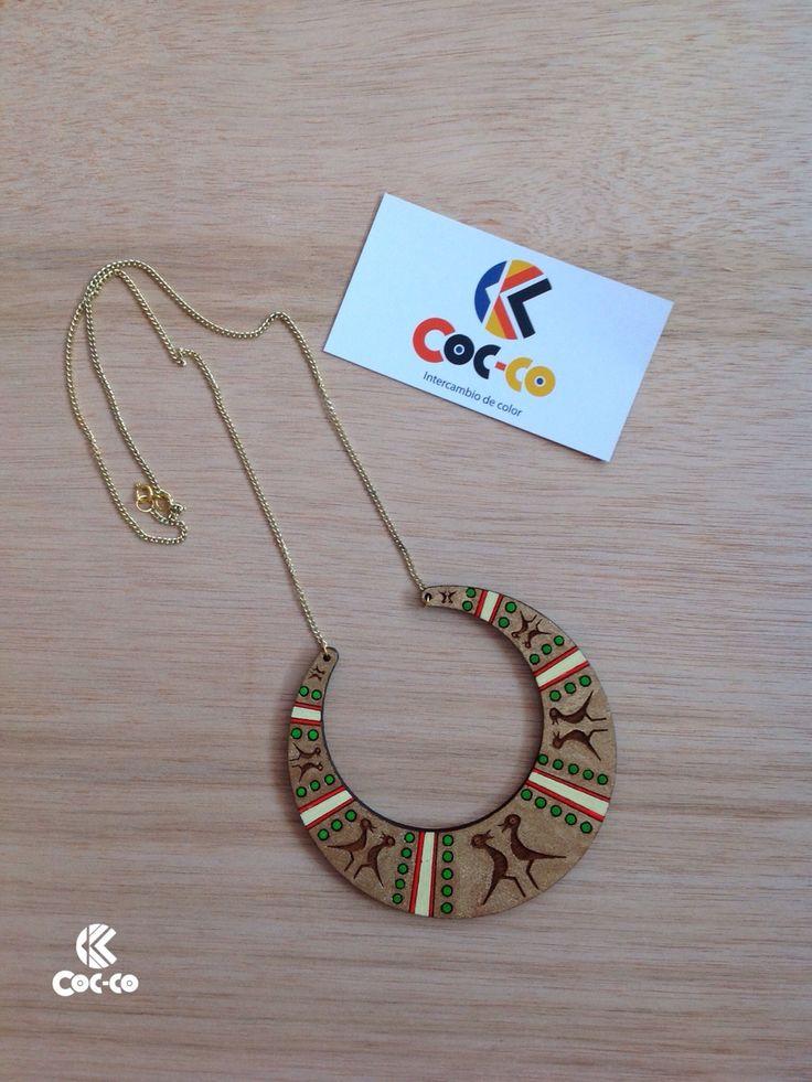 Coc-co inspira su línea Preco en la identidad cultural y artística de nuestras culturas indígenas.. #trendy #cute #fashion #necklace #accesorios #moda #accessories #ring #color #madera #wood #precolombino #preco #cocco #coccocolor #pulsera #precolombian