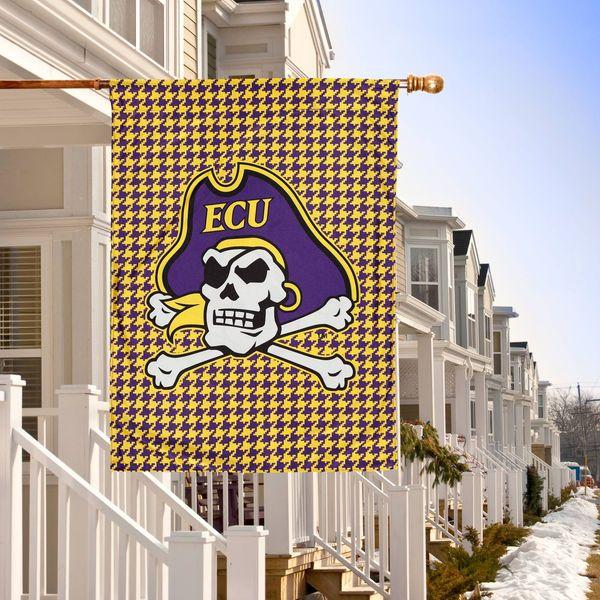 "East Carolina Pirates Double-Sided 28"" x 40"" Houndstooth Fashion House Flag - $34.99"