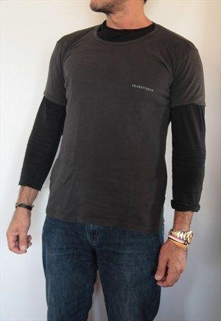 CHEVIGNON BLACK T-SHIRT.