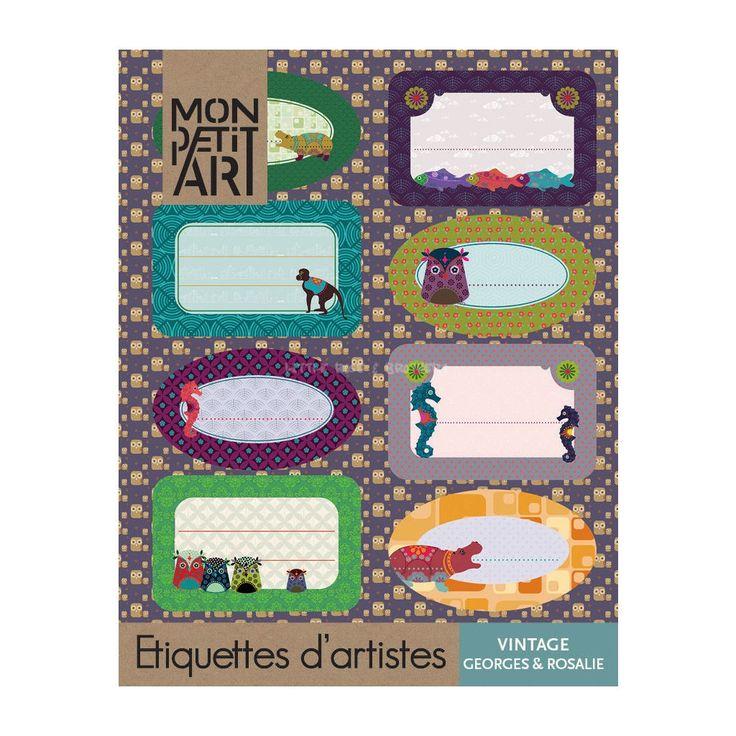 Książeczka z naklejkami Vintage Mon Petit Art - Świat zabawy - Kreatywnie - Sklep z ubrankami dla dzieci w stylu Vintage i Retro - Little-Rose.pl
