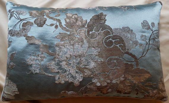 Lumbar Throw Pillow Cushion Cover Silk Brocade by OggettiVeneziani
