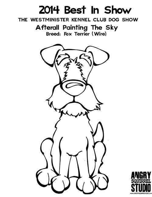 FREE COLORING PAGE BEST IN SHOW Afterall Painting The SkyWire Fox Terrier