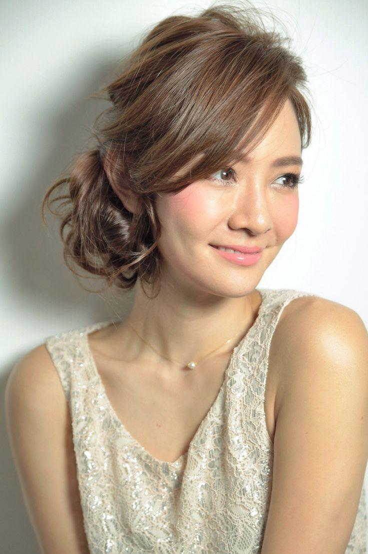 髪型アップ前髪長い」の画像検索結果【2020】