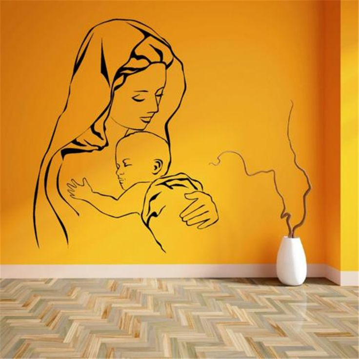 Virgin Mary And Jesus Mother Baby Madonna Child Vinyl Wall Aart Sticker Decal Free Shipping. Yesterday's price: US $11.99 (9.73 EUR). Today's price: US $9.47 (7.68 EUR). Discount: 21%.