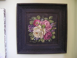 """original """"rose raphsody"""" in vintage frame"""