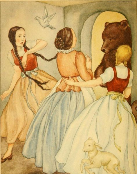"""""""Snow White and Rose Red"""" by Brünhild Schlötter"""