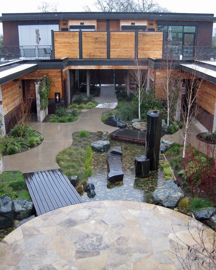 Image Result For House Built Around Courtyard Midwest Modern Courtyard Garden Architecture Patio Layout