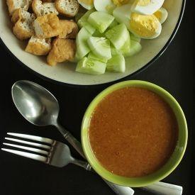 Gado-Gado: Indonesian salad with peanut sauce.