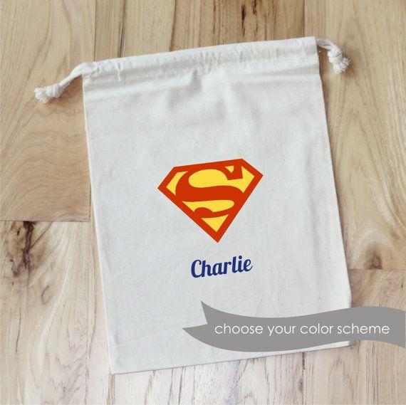 SUPERMAN faveur personnalisé sacs Set de par foryourlittlemonkey