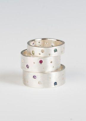 Edelstein-Mond-Band-Ring in Sterlingsilber von JujuBySarah auf Etsy