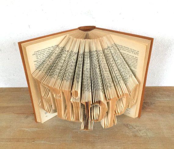 Folded Book Art  Wedding Decoration  Hand Folded by #morphingpot #foldedbook #origami #wedding #book #sculpture #art