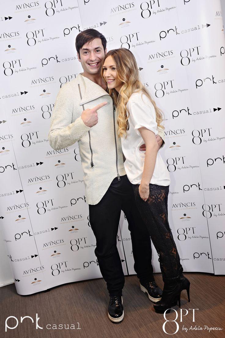 Adela Popescu si Radu Valcan #PNKForward #8pt #PNKcasual #adelapopescu #fashion #style #cool #streetstyle #event