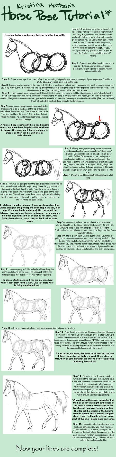 Horse Pose Tutorial by Abiadura on deviantART Art Ed Central