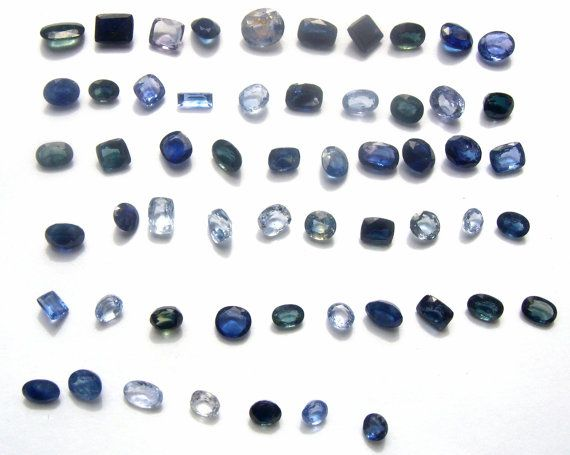 Ceylon sapphire 82 ct 56 pieces  50 shades of blue от  coupon  ---- 29% ODMIVINTAGE