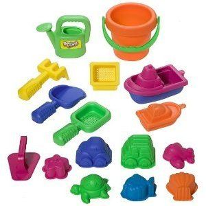 Small World Toys Swe 15-Pieces Sand Toy Set Asst
