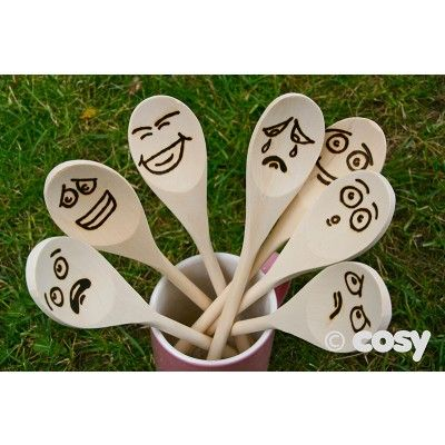 WOODEN EMOTION SPOONS (7PK) - PSED, Diversity and Cooking - Early Years - Cosy Direct