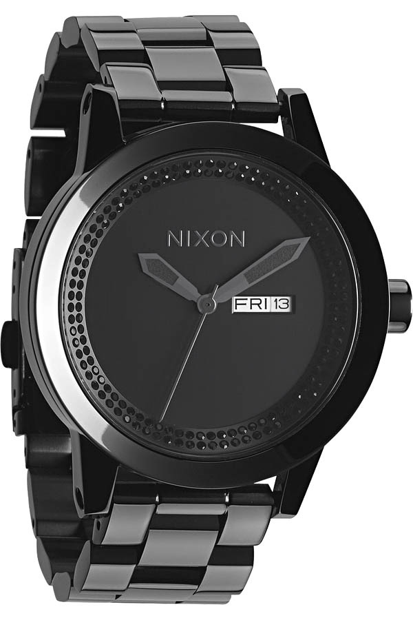 Nixon Spur Watch in All Black / Black Crystal - $349 #nixon #watch #watches