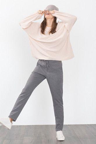Esprit / Zachte stoffen broek met elastische band