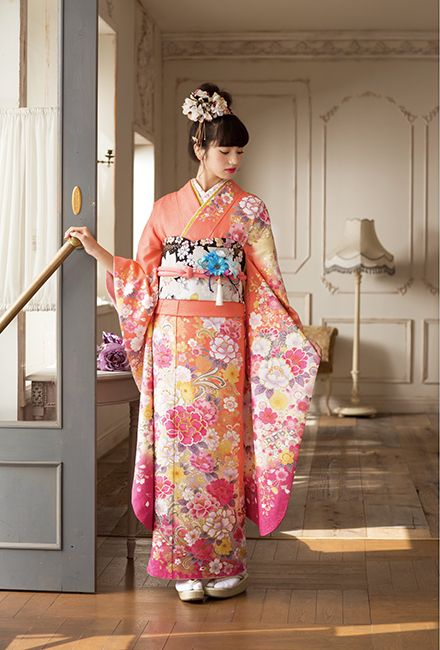 NO.1602 正絹 京友禅|成人式の振袖販売、振袖レンタルの京都きもの友禅