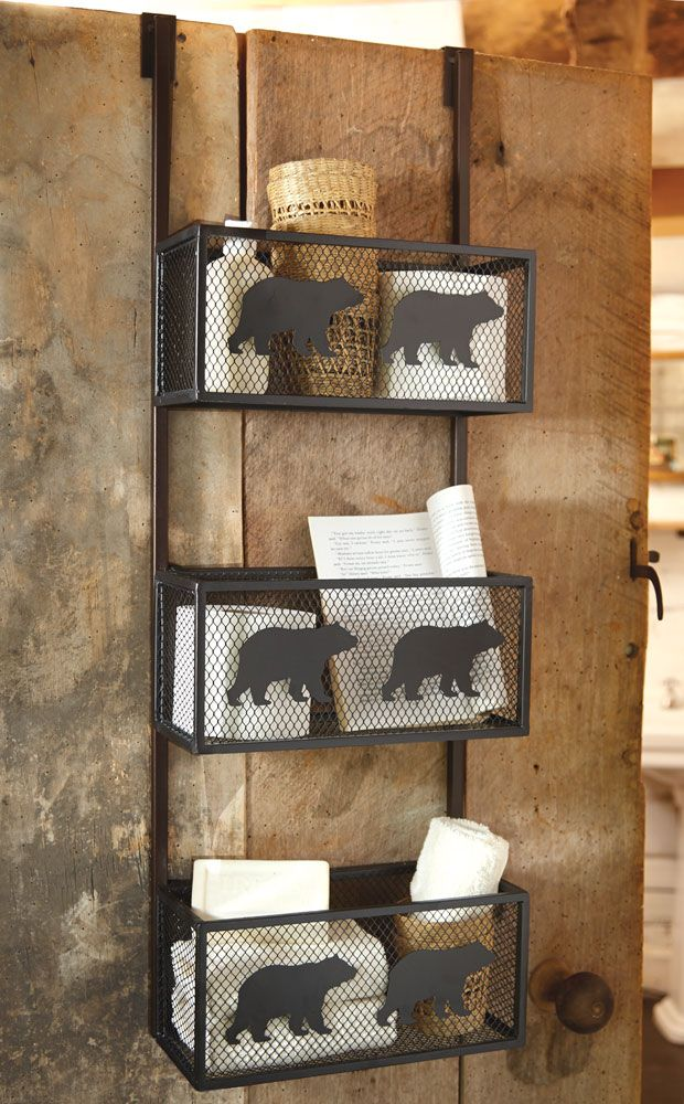 Bear Door Shelf Give Your Bathroom Storage A Boost With The Featuring Three Over Mesh Baskets Black