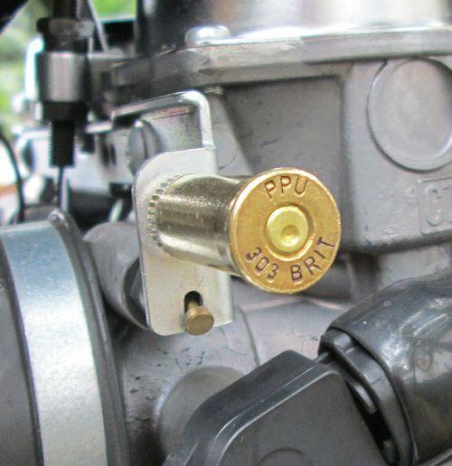 British .303 Choke Knob for the Triumph Bonneville, T100, SE, Black, Thruxton, Scrambler, America and Speedmaster