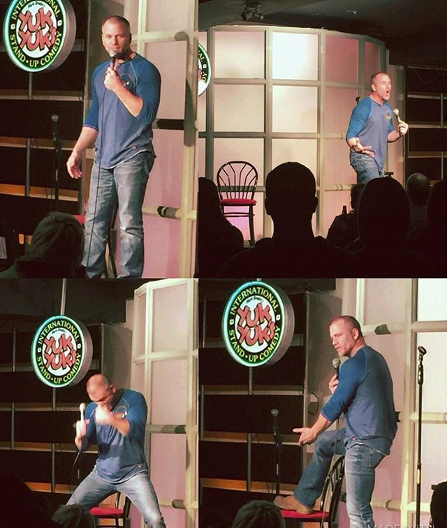 At @yukyukscomedy in Toronto last weekend, & I'll be doing more of this ridiculousness at @hahacafecomedy Club tonight in North Hollywood! Doors open at 8pm. Come on out!! #hahacomedyclub #yukyukscomedyclub @jackjrcomic.  Photo credit: @lscopazzi