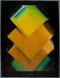 Heinz Mack  German (Lollar, Germany born 1931)  Print  German  ,  20th century  Screen print in colored inks on white wove paper  sheet: 125 x 95 cm (49 3/16 x 37 3/8 in.)  Fulda-Kuhn 160 IX  Harvard Art Museums/Busch-Reisinger Museum, Gift of the Artist through the German Art Dealers Association  , 1992.183.9