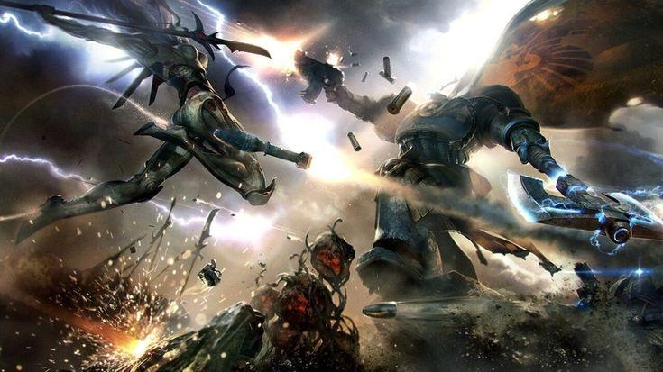 Warhammer 40000,warhammer40000, warhammer40k, warhammer 40k, ваха, сорокотысячник,фэндомы,Space Marine,Adeptus Astartes,Imperium,Империум,Craftworld Eldar,Эльдар,Exarch,Howling Banshees