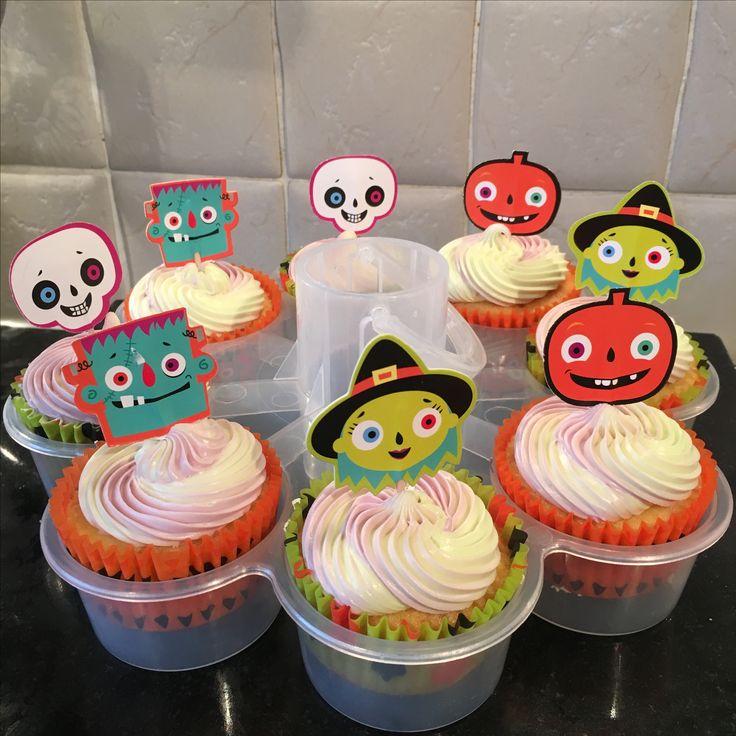 Halloween ombré cupcakes