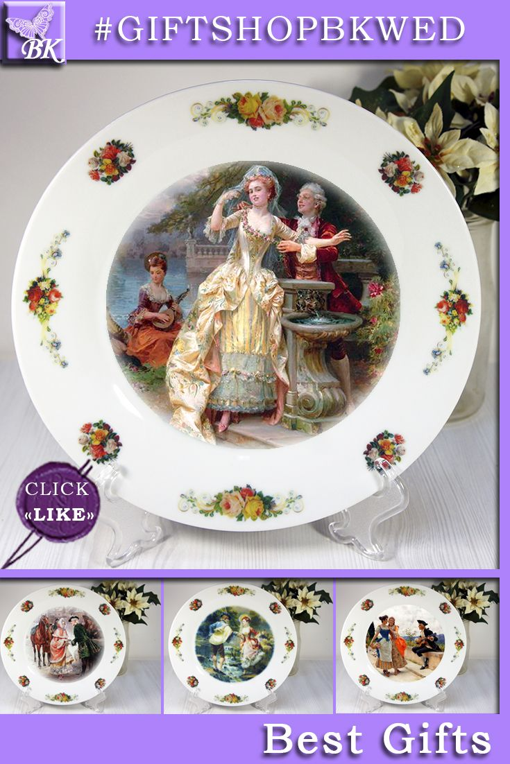 """Plates The """" Pastoral """" series is ideal for gif. Italian painter Cesare Auguste Detti (1847-1914). Our porcelain plates are ideal for interior and will look great in your collection! #giftshopbkwed #decor #home #accessory #gift #porcelain #picture #print #accessories #walldecor #plates #homedecor #shabbychic #frenchstyle"""
