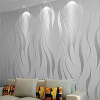 Высокое качество современные простые нетканые обои 3D трехмерные стекаются тисненые обои гостиной фон декора