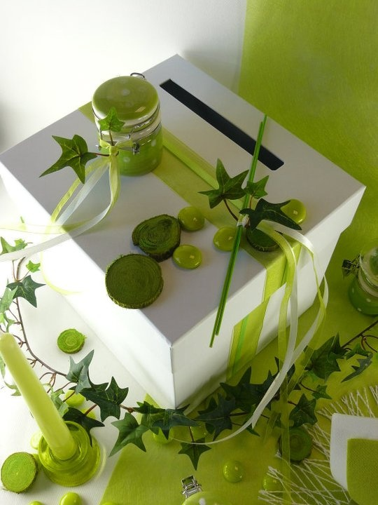 Pingl par lcreation sur aniv tissou pinterest for Centre de table vert anis